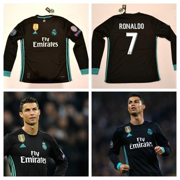 Real Madrid Cristiano Ronaldo Long Sleeve 2017 18 88fe0dbaf